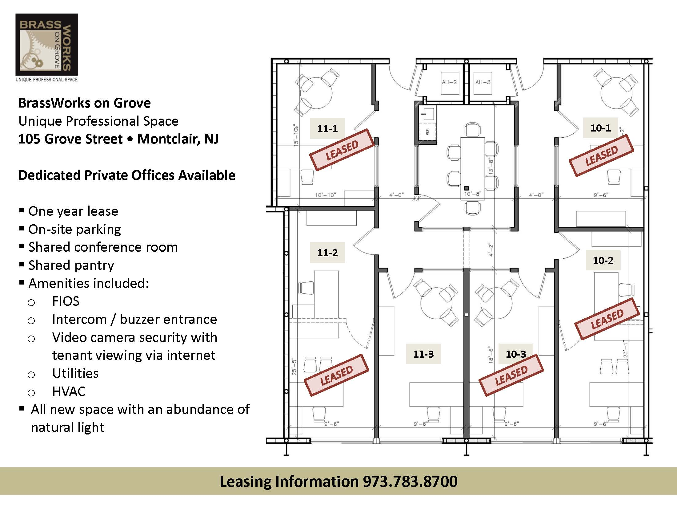 7 9 12 1 Office Space Available
